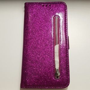 "Case for iphone xs max 6.5"" purple glitter new"